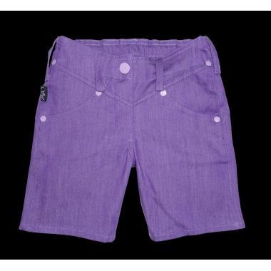 Дънкови панталонки 3/4 в лилаво