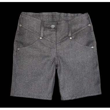 Дънкови панталонки 3/4 в сив перлен цвят
