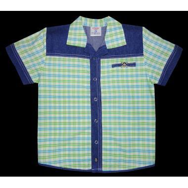 Риза каре дънкова комбинация К-6