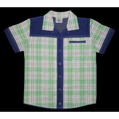 Риза каре дънкова комбинация К-100