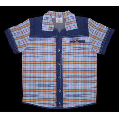 Риза каре дънкова комбинация К-1