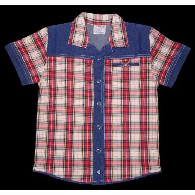 Риза каре дънкова комбинация К-96