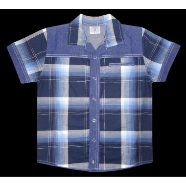 Риза каре дънкова комбинация К-94