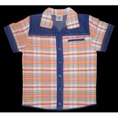 Риза каре дънкова комбинация К-4