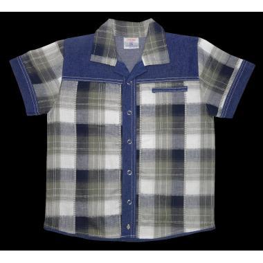 Риза каре дънкова комбинация К-101