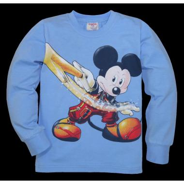 блуза тънка с дълъг ръкав Мики и златния ключ в светло синьо