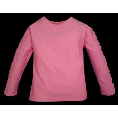 Блуза набран ръкав розова