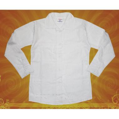 Риза бяла с ефектна бродерия на цветя