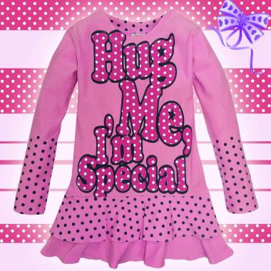 Туника на точки Hug Me в розово