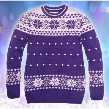 Блузон Звезди плетиво в лилаво