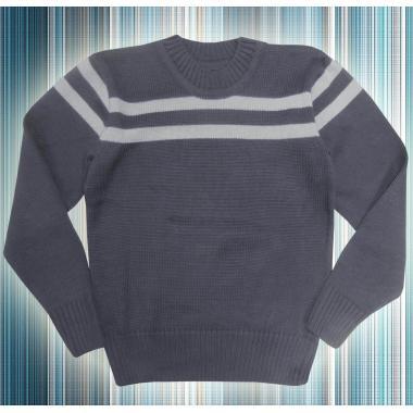 Пуловер в тъмно и светло сиво