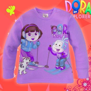 Блуза триконечна вата Дора и Ботичко в лилаво