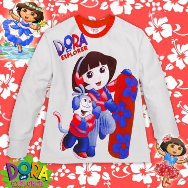 Ватирана блуза Дора и Ботичко в бяло/корал