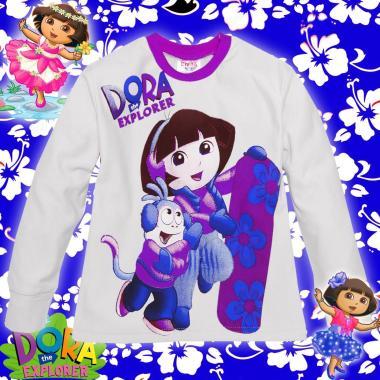 Ватирана блуза Дора и Ботичко в бяло/лилаво