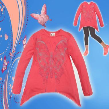 Туника Пеперуда цвят корал