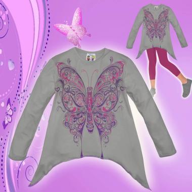 Туника Пеперуда в сиво