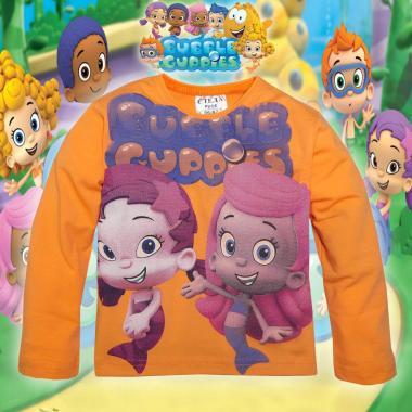 блуза тънка с дълъг ръкав Рибки балони в оранжево