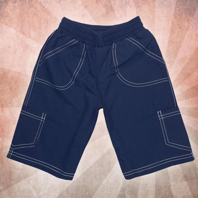 Панталон 3/4 парашут в тъмно синьо