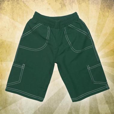 Панталон 3/4 парашут в тъмно зелено