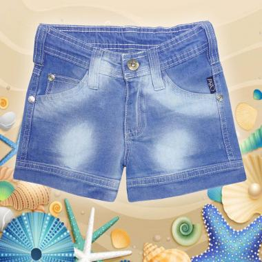 Дънкови къси панталонки в светъл деним