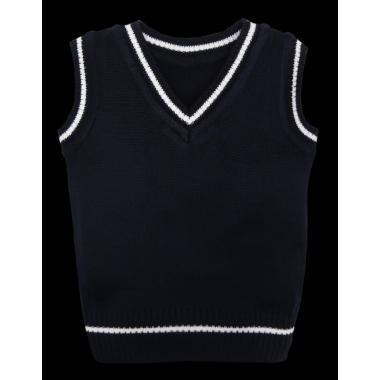 Пуловер без ръкав т.син