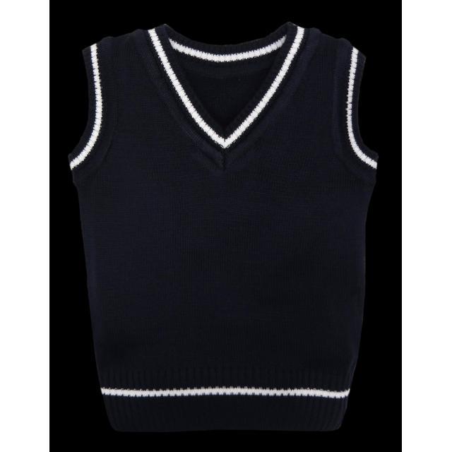 Пуловер без ръкав тъмносин