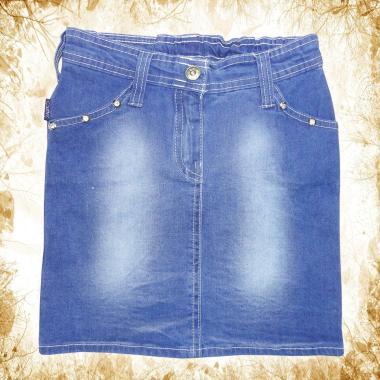 Дънкова пола в синьо