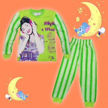 Пижама Виолета в резедаво райе