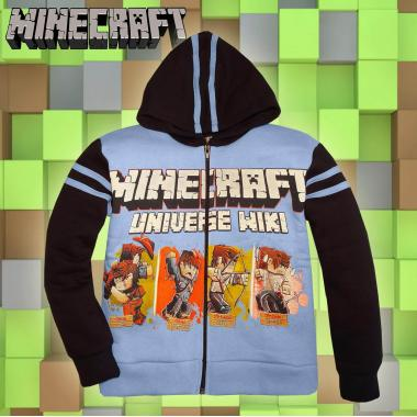 Суичър триконечна вата Minecraft в синьо