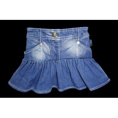 Дънкова пола синя