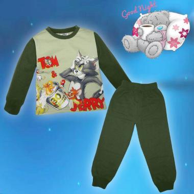 Пижама ватирана Том и Джери в хаки