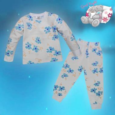 Пижама Хавайски цветя в бяло N-21