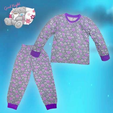 Пижама Цветна градина в лилаво N-26