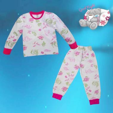 Пижама Цветя в бяло N-23