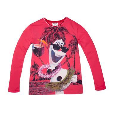блуза   тънка с дълъг ръкав Снежен човек Олаф в корал