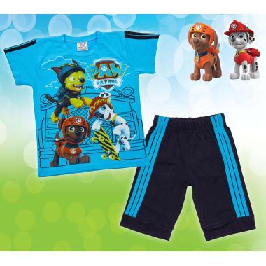 Комплект тениска и 3/4 бермуди Пес Патрул в наситено синьо