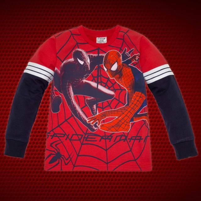 Блуза Спайдърмен с 3 канта в червено
