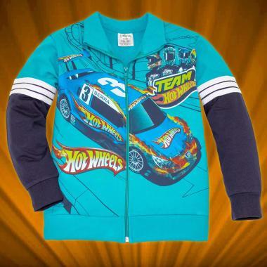 Суичър Hot Wheels с 3 канта в морско синьо