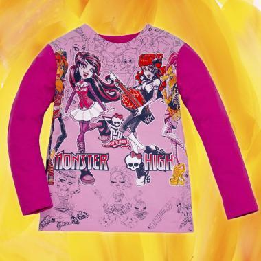 Блуза Монстър Хай в розово и циклама