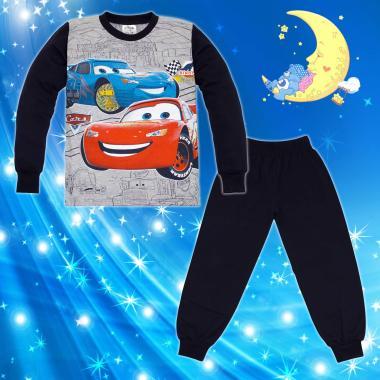 Пижама Макуин в сиво и тъмно синьо