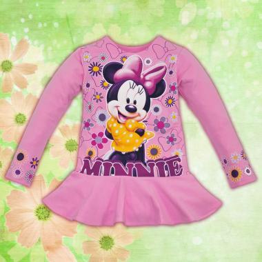Туника Мини Маус в розово