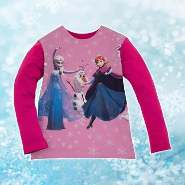 Блуза Замръзналото кралство в розово и лилаво