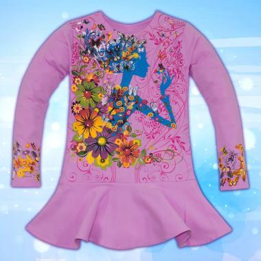 Туника Момичето с цветята в лилаво