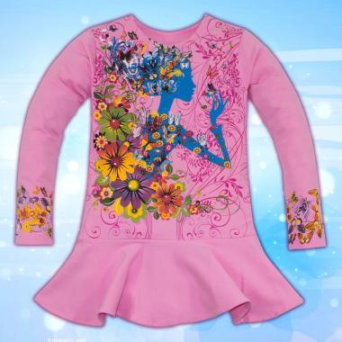 Туника Момичето с цветята в розово