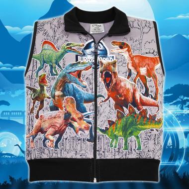 Елек триконечна вата Динозаври в сиво