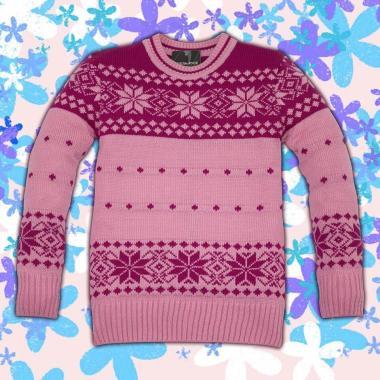 Блузон Звезди плетиво в розово