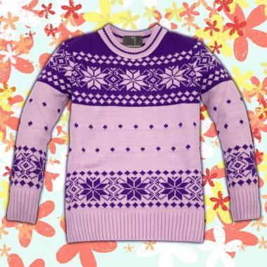 Блузон Звезди плетиво в светло лилаво