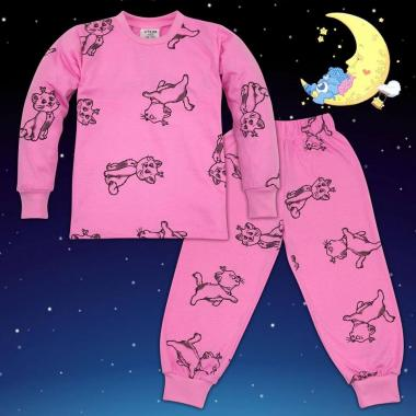 Пижама Котенце в розово N-41