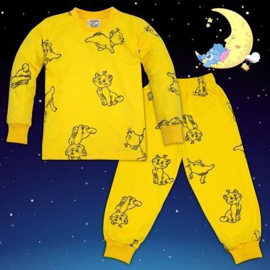 Пижама Котенце в жълто N-42