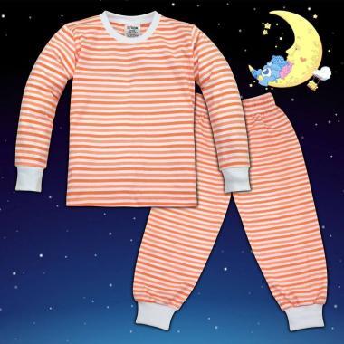 Пижама в светло коралено райе М-6